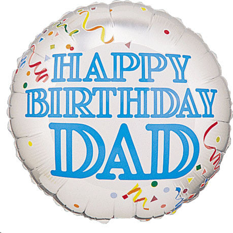 "18"" Birthday Confetti Dad Betallic"