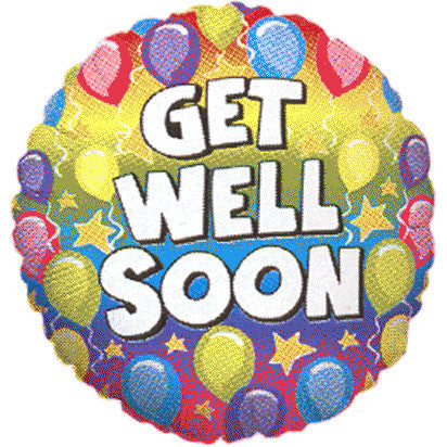 Get Well Rainbow Betallic Mini Balloon (1 ct)