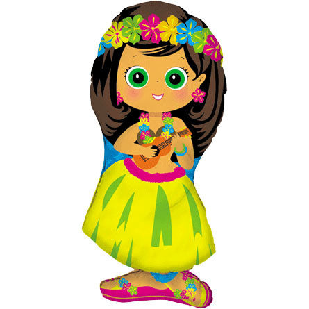 Hula Girl Helium Shape