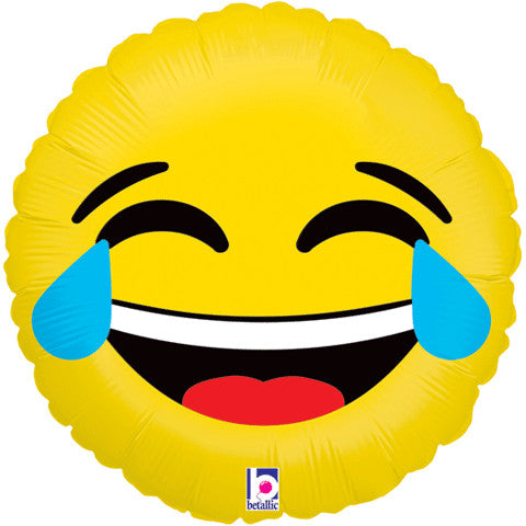 "18"" Emoji Tears of Joy LOL Foil Balloon"