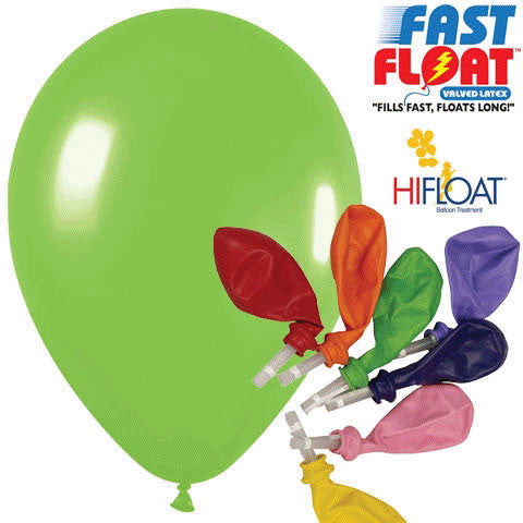 "Betallatex 12"" Deluxe Key Lime Fast Float Latex Balloons (25ct)"