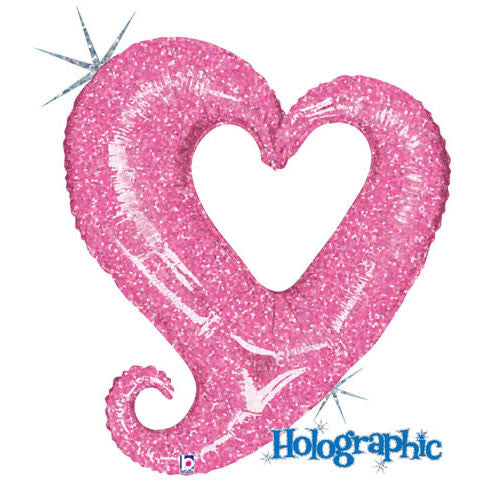 Pink Chain Of Hearts Helium Shape
