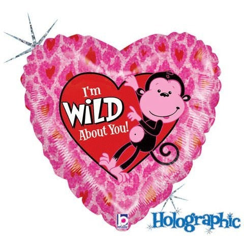 "18"" Wild About You Holographic Balloon (1 ct)"