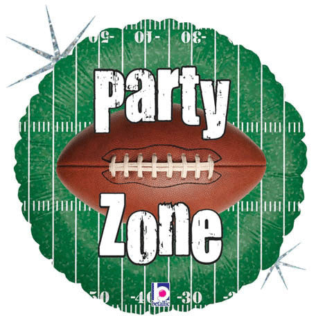 "18"" Party Zone Football Holographic"