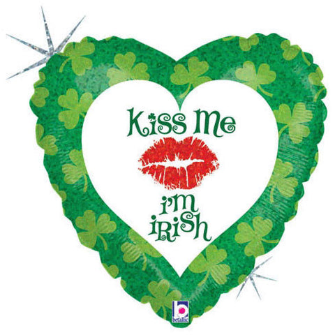 "18"" Kiss Me I'm Irish Holographic"