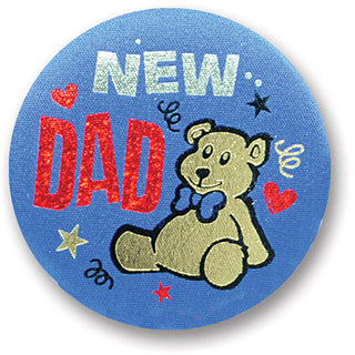 New Dad Satin Button