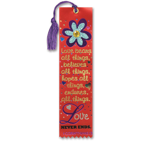 Purple and Gold Ribbon with Silver Tone Crown Bookmark The King Finger Streamer