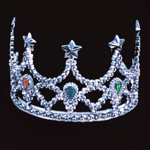 Crown Silver w/Painted Jewels