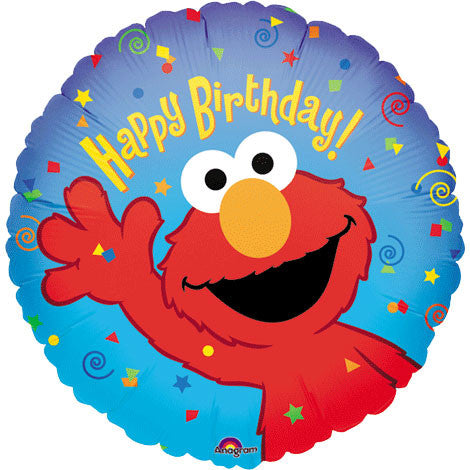 "18"" Elmo Birthday Flat"