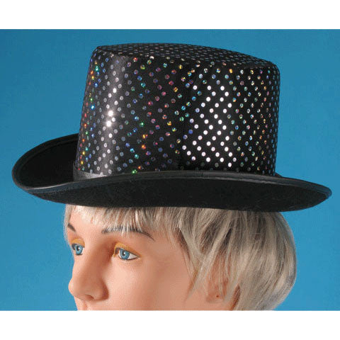 Top Hat w/Silver Dots