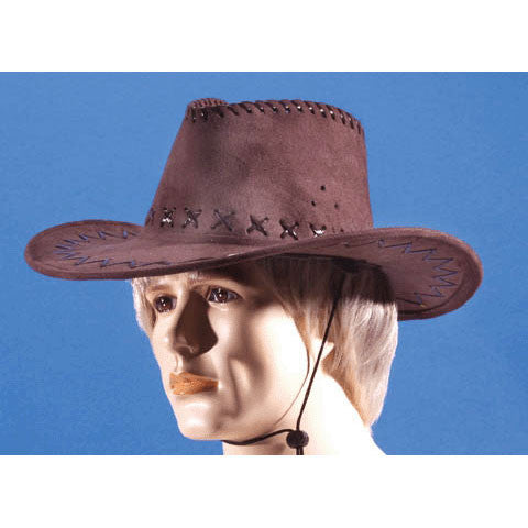 Cowboy Hat Brown Leatherette