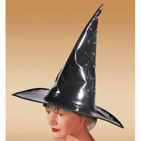 Black Vinyl Witch Hat