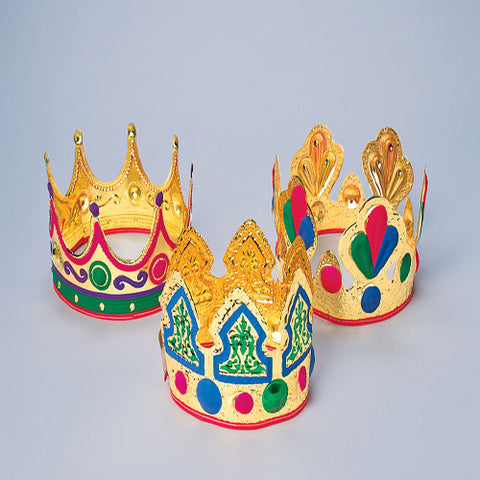 Child's Gold Foil Crowns