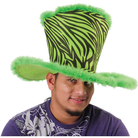 Flared Furry Zebra Hat