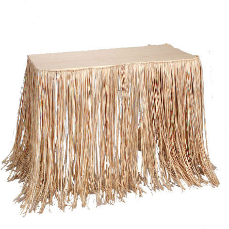 Natural Raffia Table Skirt