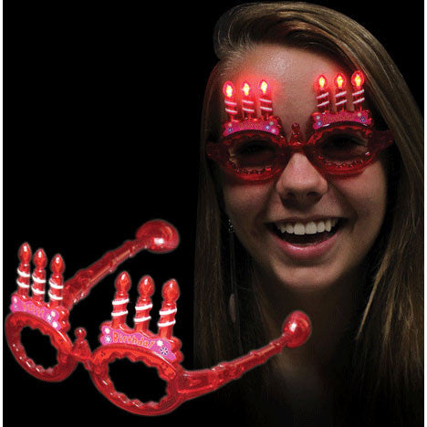 Light Up Red Birthday Glasses