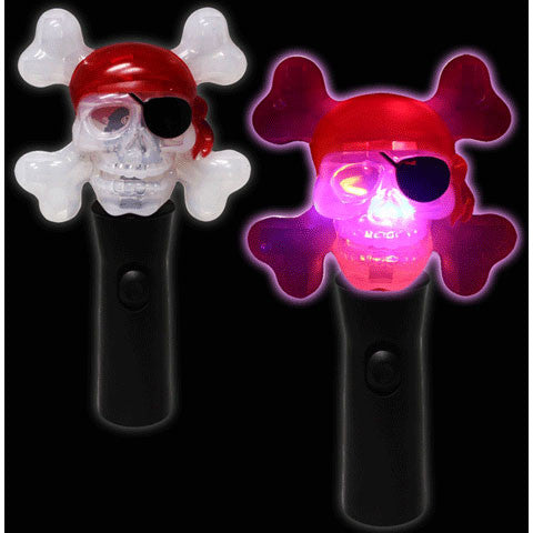 "8"" Light Up Pirate Spinner Wand"