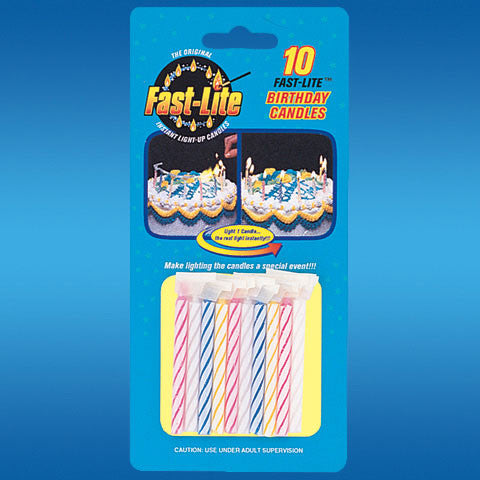 Fast-lite Candles Asst. 10 Count