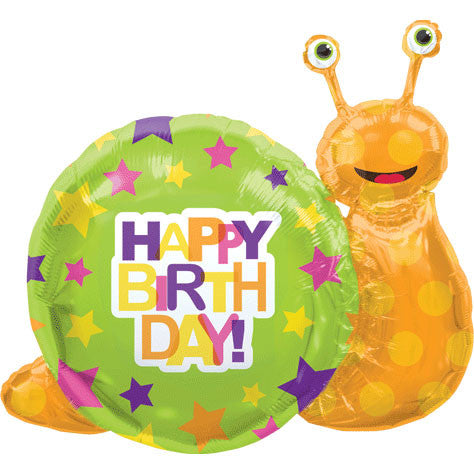"41"" Birthday Snail Helium Shape"