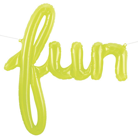 FUN SCRIPT CLEAR GREEN