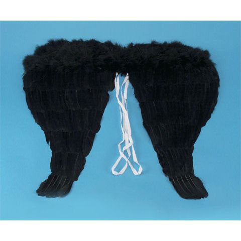 "Angel Wings 18"" Feather Black"