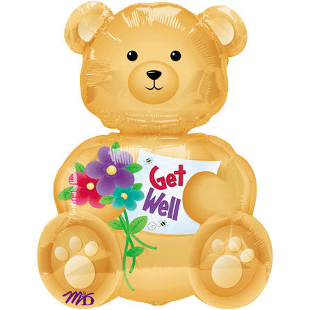 Bear Get Well Mini Shape Balloon (1 ct)