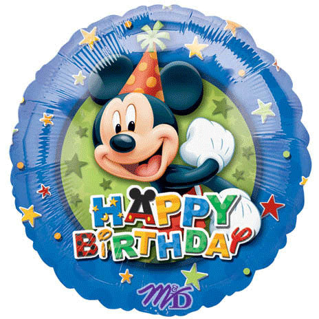 "18"" Mickey Birthday Stars"