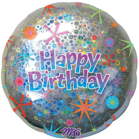 "32"" Birthday Celebration Holographic Circles"