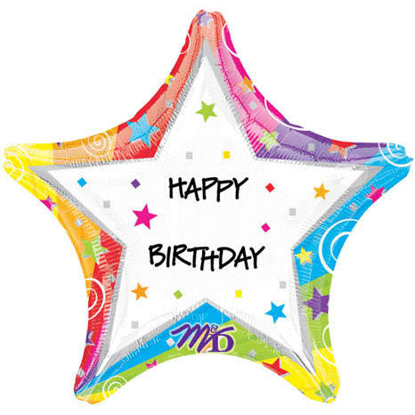 "19"" Star Birthday Personalized"