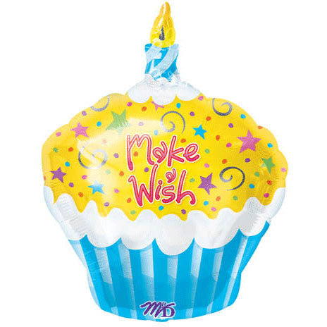 "18"" Make A Wish Cupcake Junior Shape"