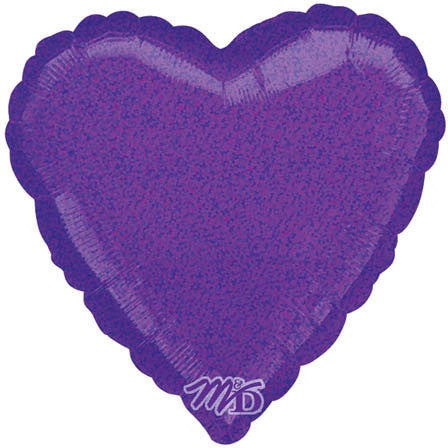"18"" Purple Dazzler Heart"