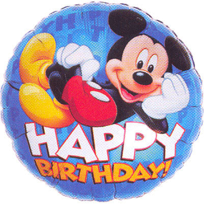 "18"" Mickey Happy Birthday 3-d"