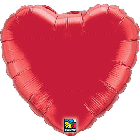 "36"" Red Heart Balloon"