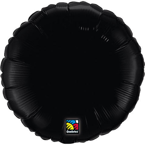 "18"" Onyx Black Round Foil Balloon"