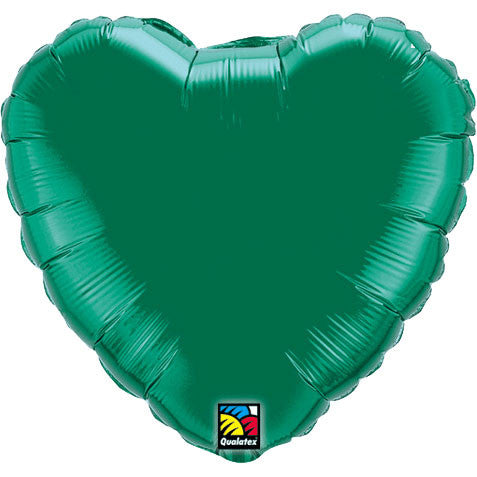 "18"" Emerald Green Heart Foil Balloon"