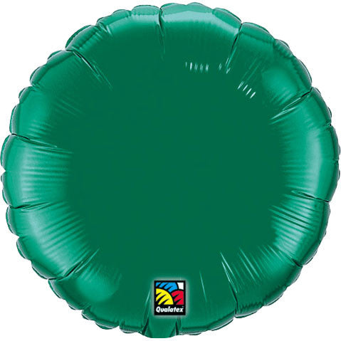 "18"" Emerald Green Round Foil Balloon"