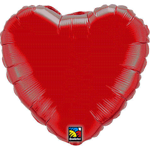 Mini Ruby Red Heart Foil Balloon