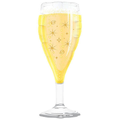 "39"" Celebrate Toasting Glass Helium Shape"