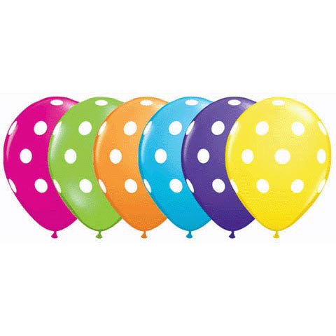 "11"" Big Polka Dots Tropical Asst."