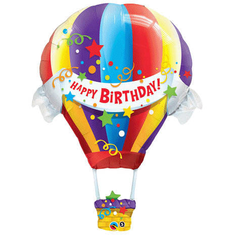 "42"" Birthday Hot Air Balloon Helium Shape"