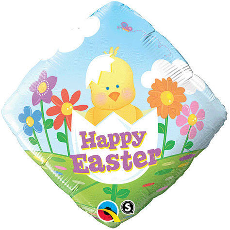 "18"" Easter Baby Chick Diamond Foil Balloon"