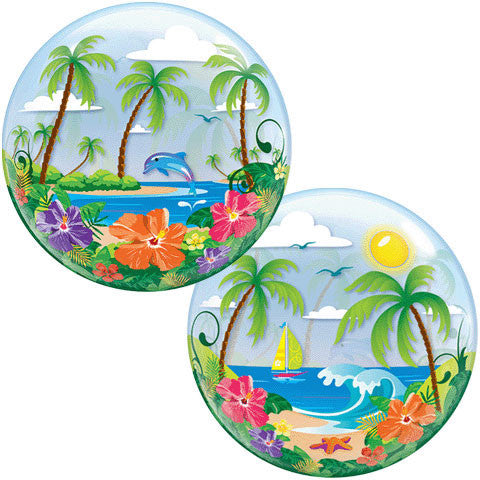 "22"" Tropical Getaway Bubble Balloon"
