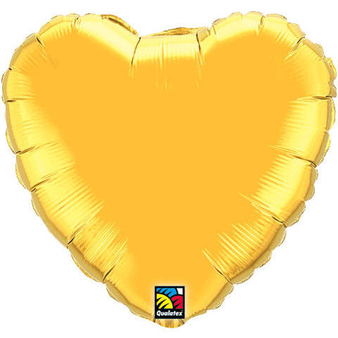"18"" Metallic Gold Heart Foil Balloon"