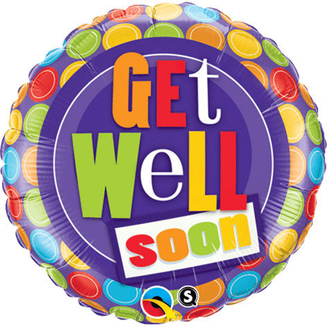 "18"" Get Well Dot Pattern"