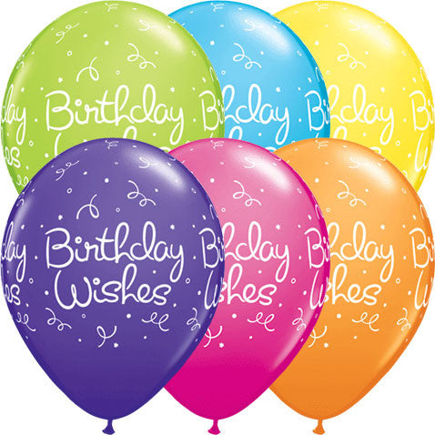 "11"" Birthday Wishes Dots Party Pack (5ct)"