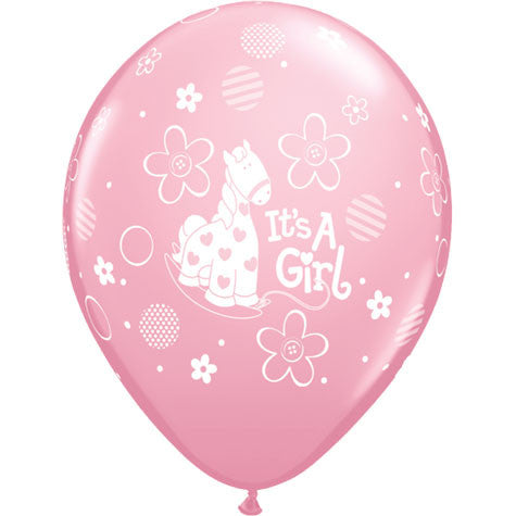 "11"" It's A Girl Soft Pony Party Pack (5ct)"
