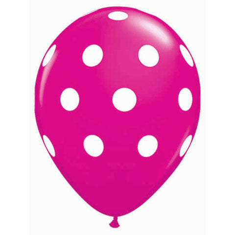 "11"" Big Polka Dots Wild Berry"