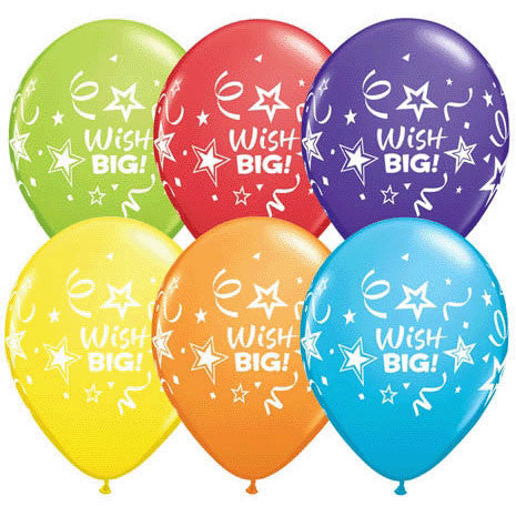 "11"" Wish Big Stars & Streamers"