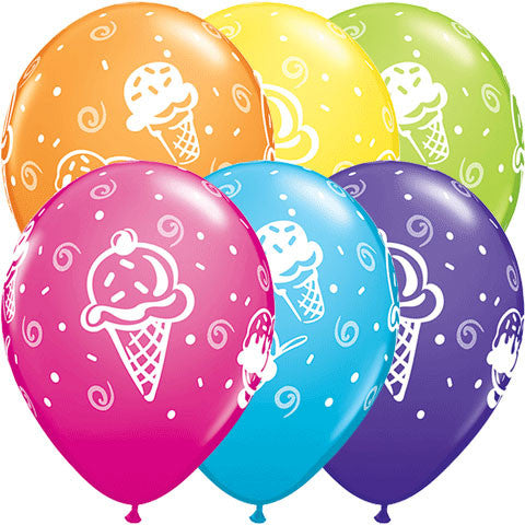 "11"" Ice Cream Treats Around Latex Balloons (50ct)"