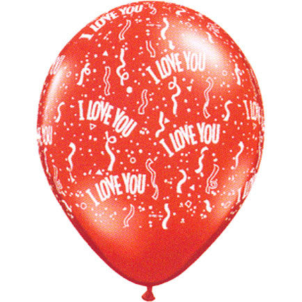 "11"" I Love You Around Contemporary Balloons (100 ct)"